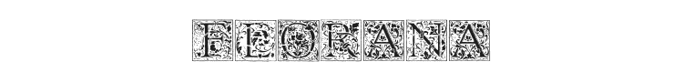 Florana Initials Font Preview