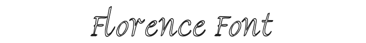 Florence Font Preview