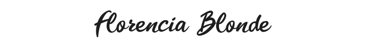 Florencia Blonde Font Preview