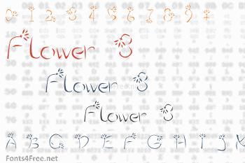 Flower 3 Font