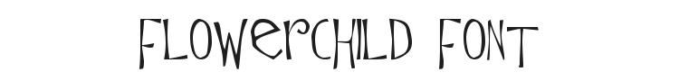 Flowerchild Font Preview