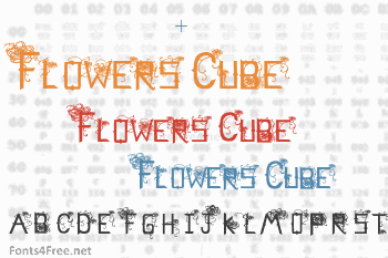 Flowers Cube Font