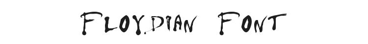 Floydian Font Preview