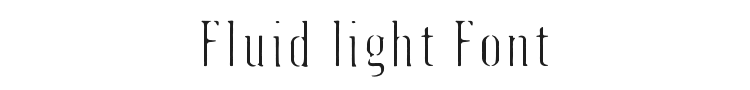 Fluid light Font Preview