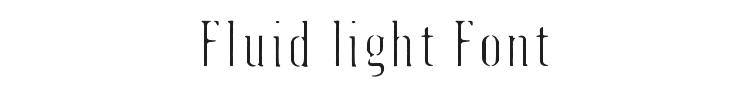 Fluid light Font Preview
