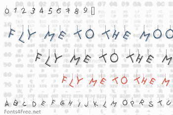 Fly Me To The Moon Font