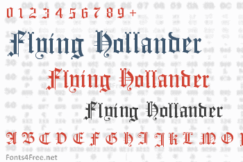 Flying Hollander Font
