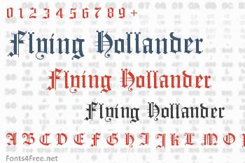 Flying Hollander Font
