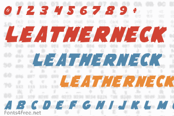 Flying Leatherneck Font