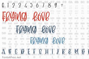 Flying Love Font