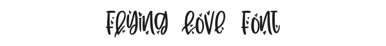 Flying Love Font Preview