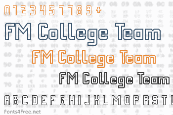 FM College Team Font