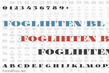 Foglihten Black Font