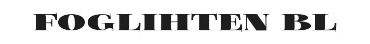 Foglihten Black Font Preview