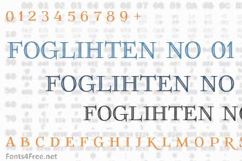 Foglihten No 01 Font