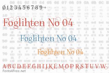 Foglihten No 04 Font