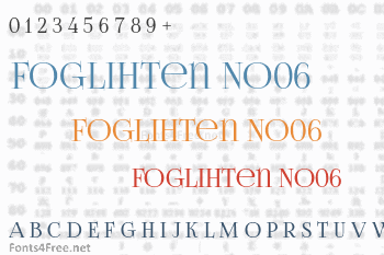Foglihten No06 Font