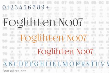 Foglihten No07 Font