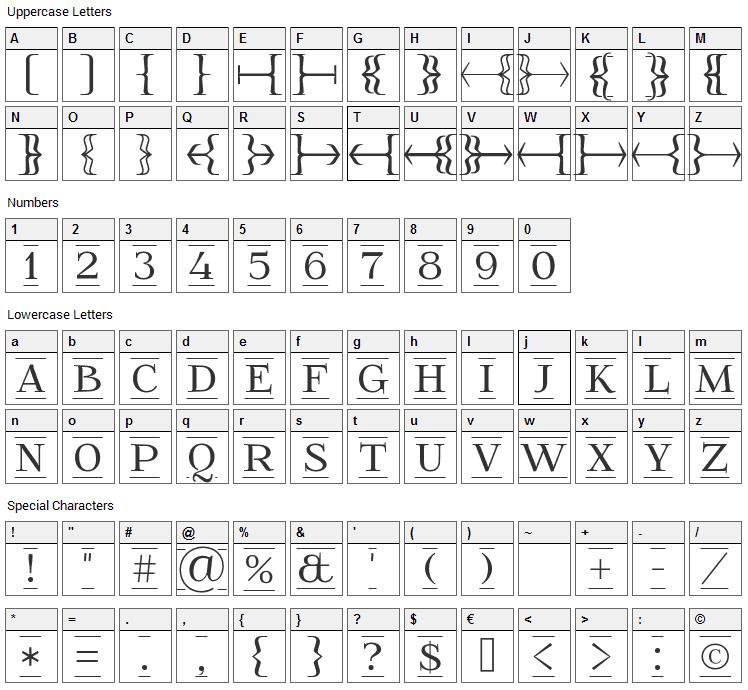 FoglihtenFr Font Character Map