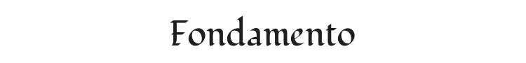Fondamento Font
