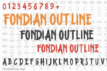 Fondian Outline Font