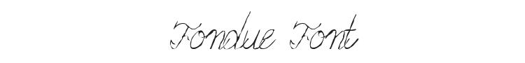 Fondue Font Preview