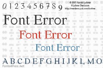 Font Error Font
