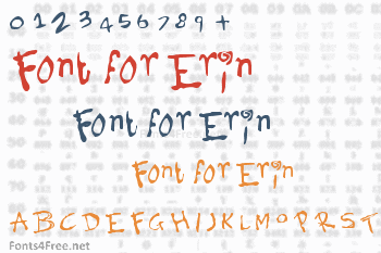 Font for Erin Font