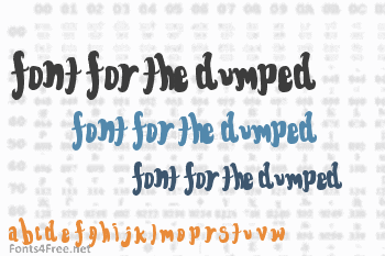 Font for the dumped Font