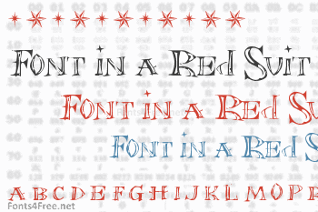 Font in a Red Suit Font