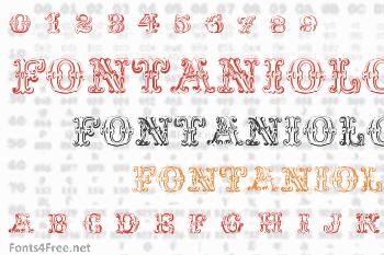 Fontaniolo Beveled Font