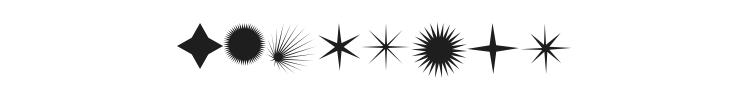 FontCo Flares Font Preview