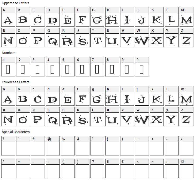 Fontocide Font Character Map