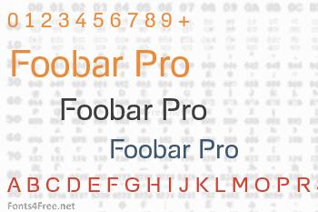 Foobar Pro Font