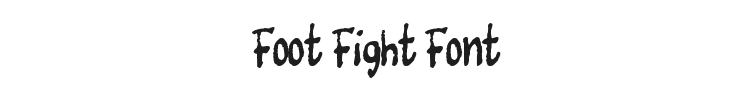 Foot Fight Font Preview