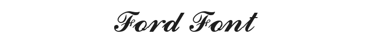 Ford Font Preview