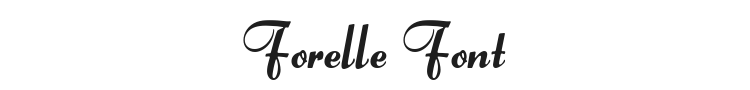 Forelle Font Preview