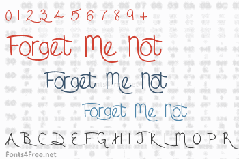 Forget Me Not Font