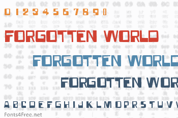 Forgotten World Font