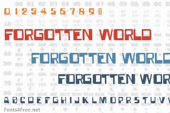 Forgotten World Font