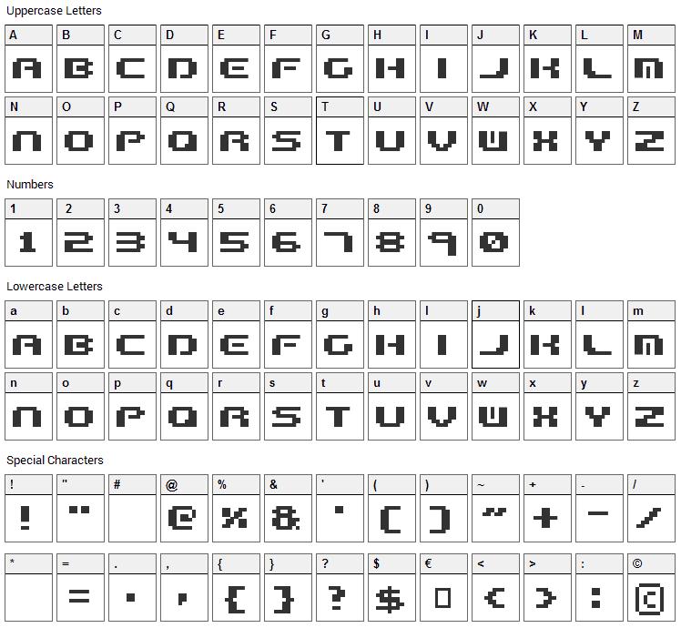 Formula Too Complex Font Character Map
