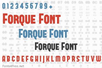 Forque Font