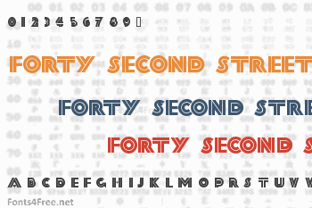 Forty Second Street Font