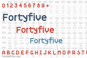 Fortyfive Font