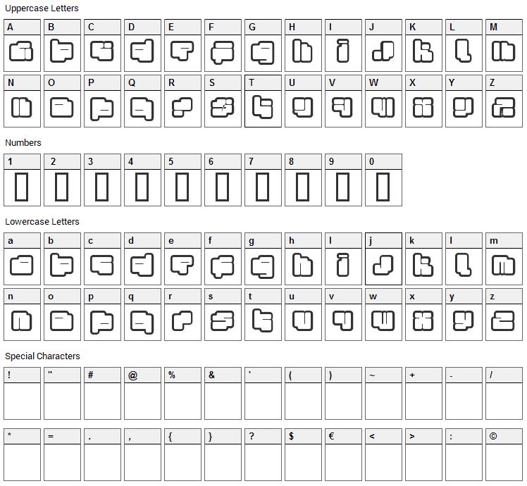 Foton Torpedo Font Character Map