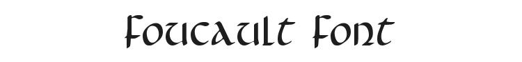 Foucault Font Preview