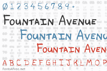 Fountain Avenue Font