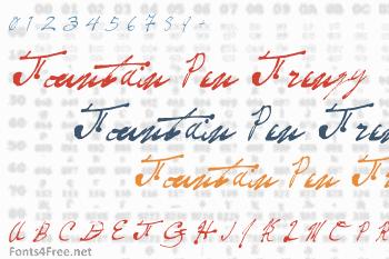 Fountain Pen Frenzy Font