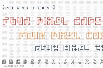 Four Pixel Caps Font