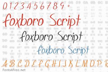 Foxboro Script Font